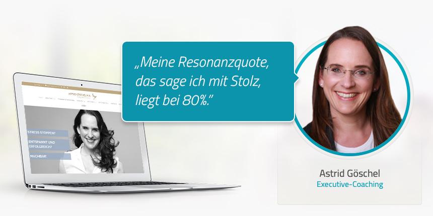 Astrid Göschel: Mit Referenzen glänzen und überzeugen