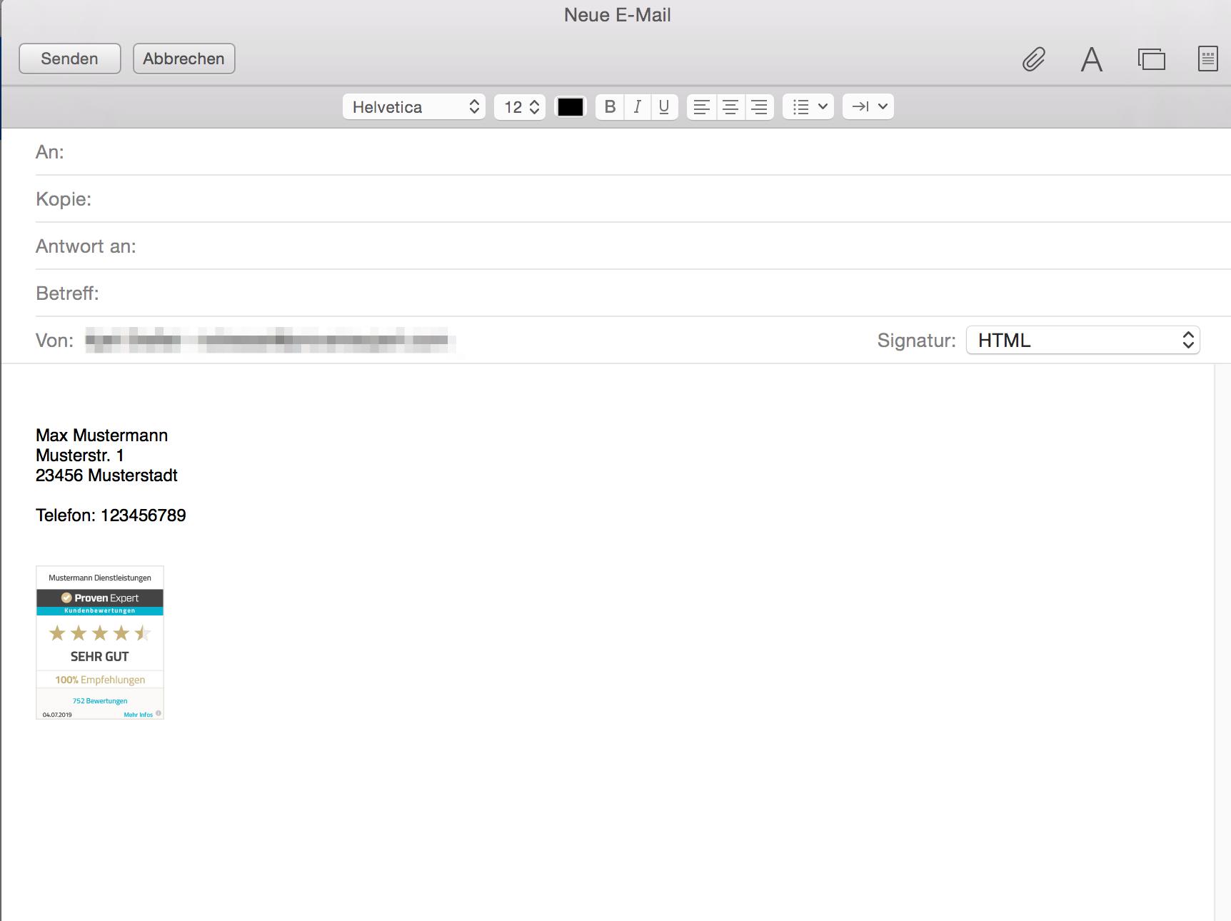 """Wählen Sie bitte rechts """"HTML"""" aus, um die Siegel-Grafik richtig anzeigen zu lassen."""