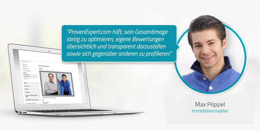 Kundeninterview mit dem Immobilienmakler Max Pöppel