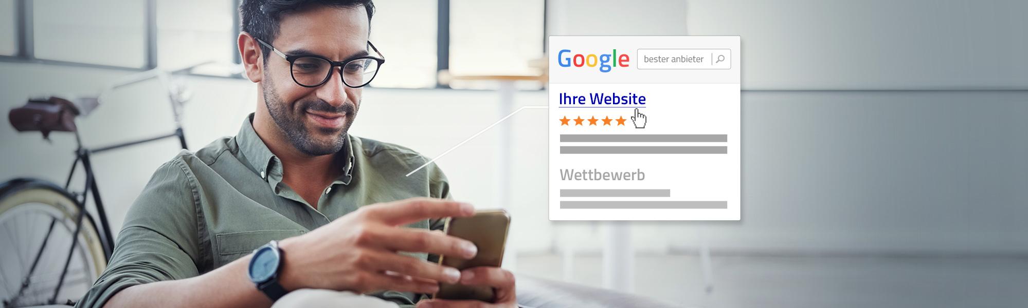 So heben Sie Ihre Website mit Google-Sternen in den Suchergebnissen hervor