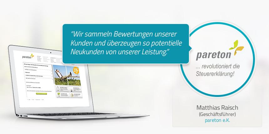Kundenstimme von Matthias Raisch pareton e.K.