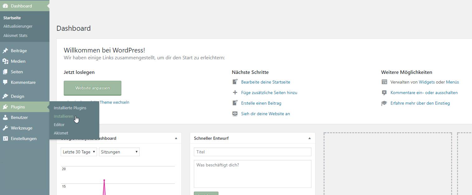 WordPress-Plugin installieren
